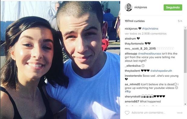 Nick Jonas também prestou sua homenagem (Foto: Reprodução/Instagram)