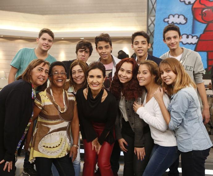 Mais plateia do programa com a Fátima  (Foto: Ellen Soares/Gshow)