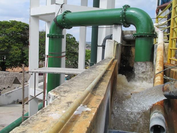 Estação de tratamento de água em Pará de Minas (Foto: Águas de Pará de Minas/Divulgação)