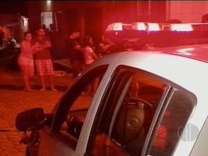 Segundo PM, suspeitos fugiram em carro do tipo Celta de cor preta (Foto: Reprodução/Inter TV Cabugi)