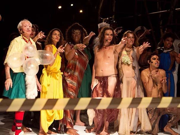 Zé Celso em cena de 'As Dionisíacas' (Foto: Divulgação)