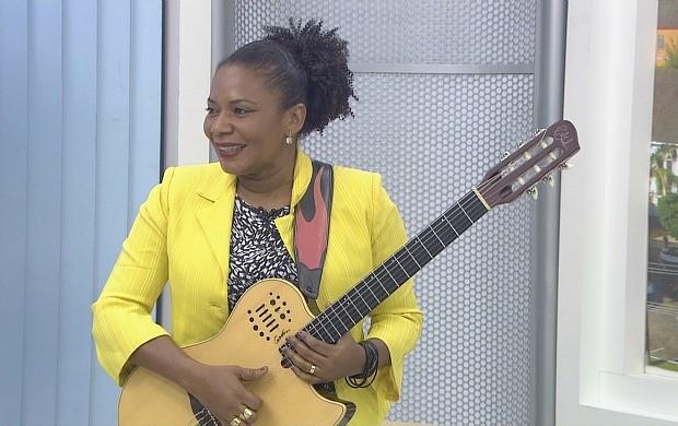 Margareth Menezes oncede entrevista ao Rondônia TV (Foto: Rondônia TV)
