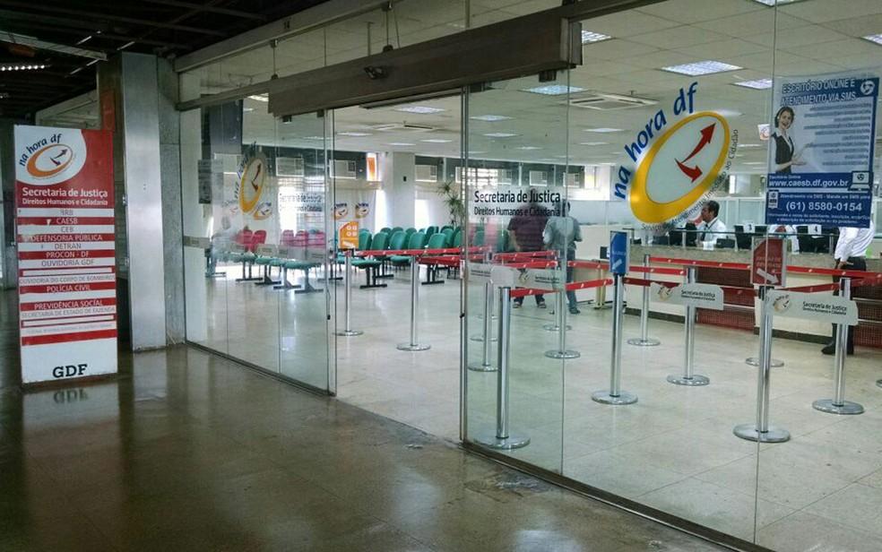 Posto do Na Hora DF, na Rodoviária do Plano Piloto em Brasília. (Foto: Marília Marques/G1)