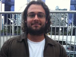 Felipe Eça, de 24 anos, fez a prova de direito trabalhista (Foto: Mariana Palma/G1)