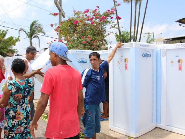 Resultado de imagem para Celpa cadastra famílias para troca de geladeiras em Curuçá e Paragominas