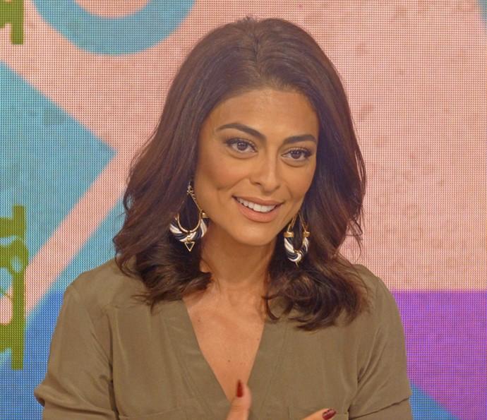 Juliana Paes participa do 'Vídeo Show' para falar do final de 'Caminho das Índias' (Foto: Brunella Menezes / Gshow)