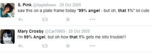 Posts de 2009 no Twitter com frase de efeito em inglês que foi parar no sertanejo (Foto: Reprodução)