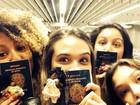 Sheron Menezzes, Juliana Paiva e Yanna Lavigne viajam juntas