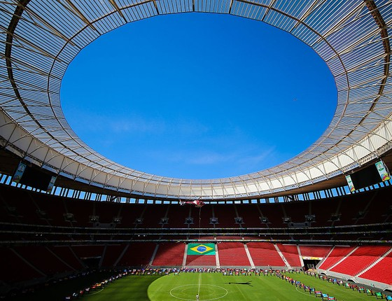 Mané Garrincha, em Brasília, o estádio mais caro da Copa do Mundo de 2014 (Foto: Getty Images)
