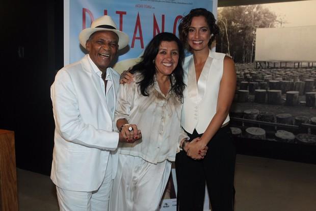 Camila Pitanga, Regina Casé e Antônio Pitanga (Foto: Marcello Sá Barretto / AgNews)