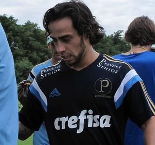 Valdivia Treino Palmeiras (Foto: Rodrigo Faber)