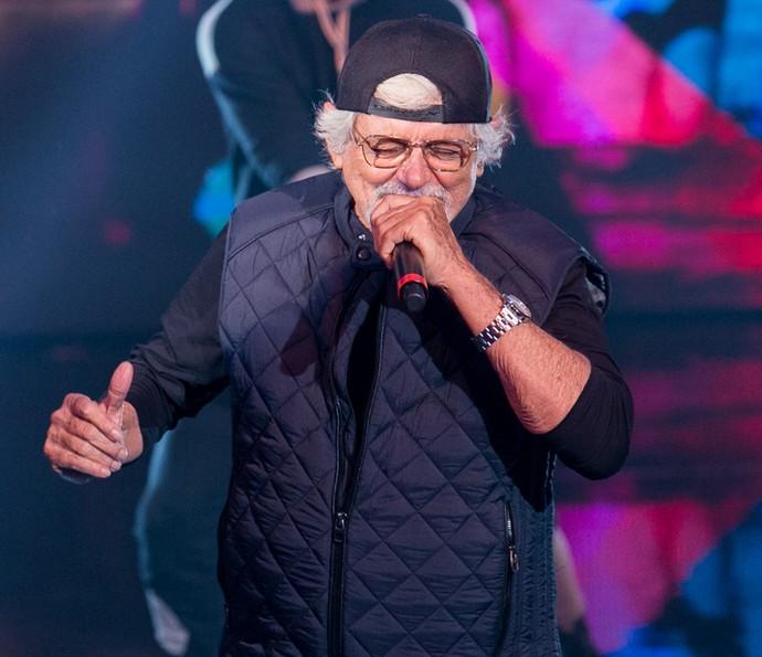Avô de Rafa Vitti, Auderi vira um autêntico rapper (Foto: Isabella Pinheiro / Gshow)