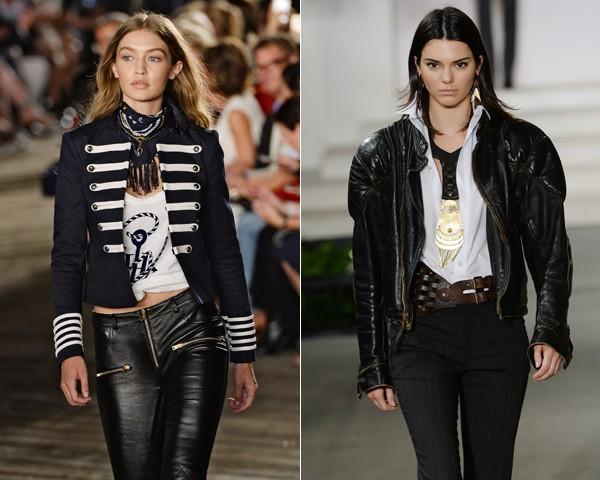 A Tommy Hilfiger e a Ralph Lauren seguiram o conceito see now, buy now (veja agora, compre agora) (Foto: Getty Images)