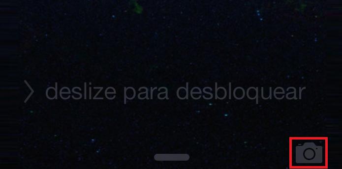 Câmera do iPhone pode ser acessada sem desbloquear a tela (Foto: Reprodução/Edivaldo Brito)
