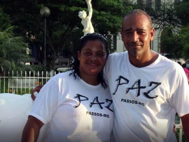 Pastor Gilberto Oliveira com a esposa, a pastora Elaine Barros: ele foi preso sob suspeita de ser responsável pela morte dela em Passos, MG (Foto: Reprodução/EPTV)
