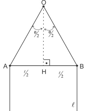 Esquema com triângulo e quadrado (Foto: Colégio Qi)