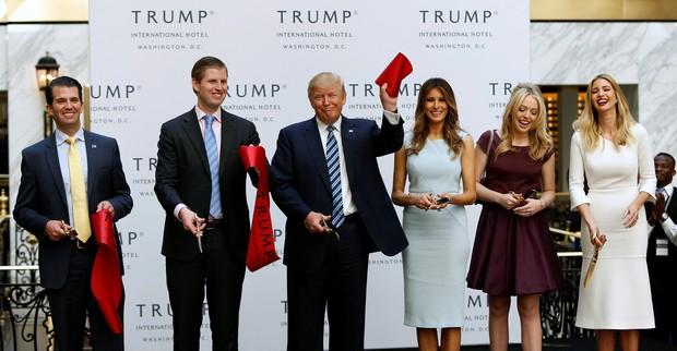 Donald e Melania Trump durante campanha presidencial (Foto: Reuters)