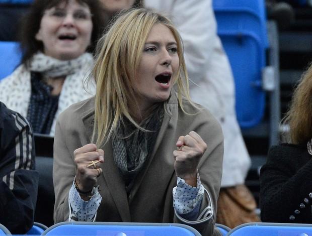 Sharapova torcida Dimitrov Queen's primeira rodada tênis (Foto: Reuters)
