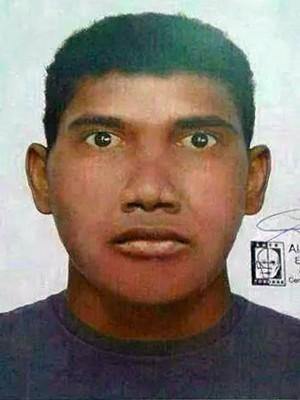 Polícia de São Roque elaborou um retrato falado do autor dos estupros (Foto: Divulgação/Polícia Civil)