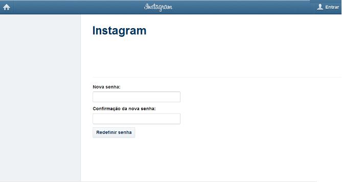 Coloque sua nova senha do Instagram e confirme a redefinição (Foto: Reprodução/Lívia Dâmaso)