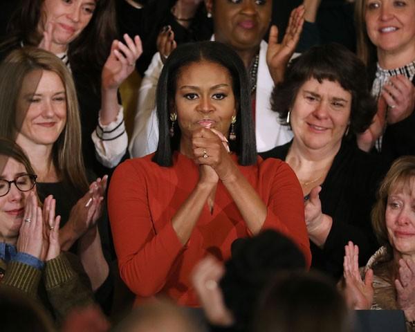 Michelle Obama em seu último discurso como primeira-dama (Foto: Getty Images)