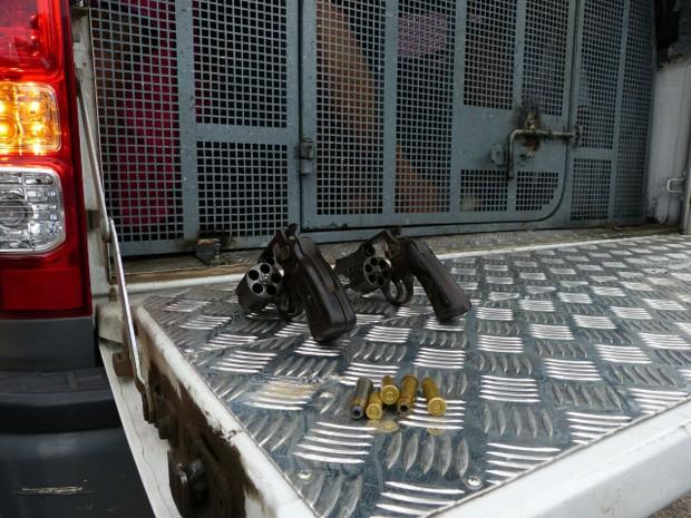 PM apreende revólveres calibre 38 em Natal (Foto: Divulgação/PM)