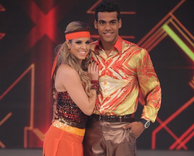 Marcello em sua estreia no 'Dança' (Foto: Pedro Curi/TV Globo)