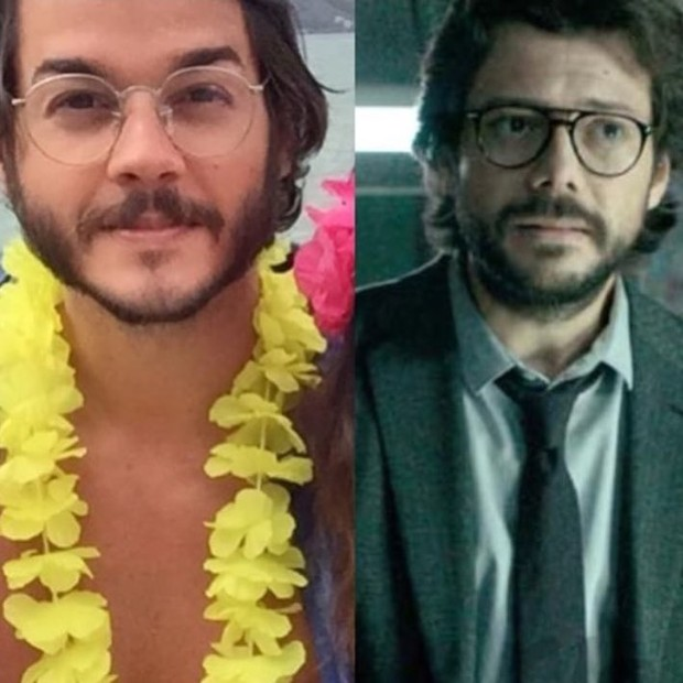 Túlio Gadêlha e Álvaro Morte (Foto: Reprodução/Instagram: @tiacrey)