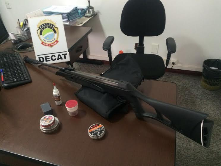 Arma utilizada por estudante para ferir e matar animal em MS (Foto: Divulgação Polícia Civil/MS)