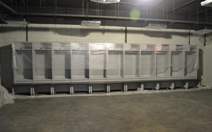 Área do vestiários foi uma das novidades apresentadas (Foto: Divulgação/Site Oficial do Atlético-PR)