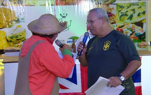 Apresentador do Globo Esporte AM, Eduardo Monteiro de Paula, participou do evento (Foto: Bom Dia Amazônia)