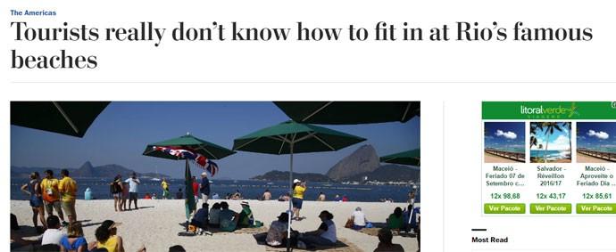Washington Post comenta diferenças entre cariocas e estrangeiros