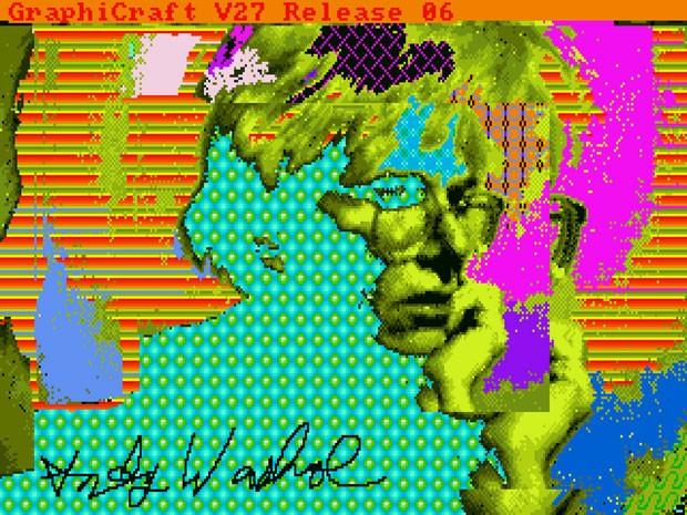 'Andy 2', desenho feito por Andy Warhol em um computador Commodore Amiga em 1985 (Foto: Diculgação/The Andy Warhol Museum)