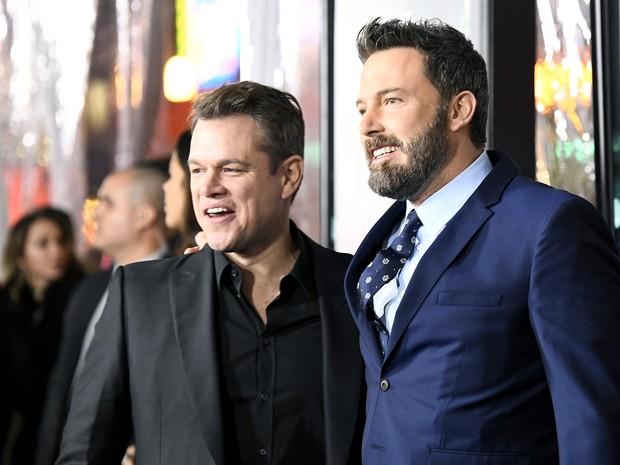 Matt Damon e Ben Affleck em première em Los Angeles, nos Estados Unidos (Foto: Frazer Harrison/ Getty Images/ AFP)