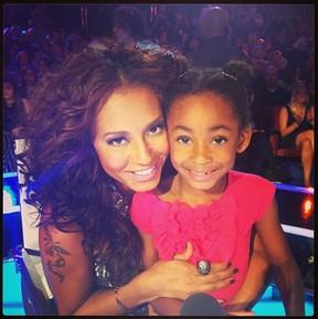 Mel B e a filha Angel (Foto: Instagram/Reprodução)