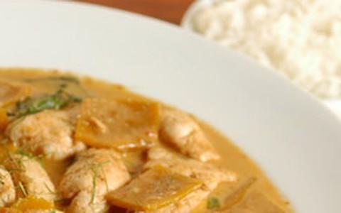 Curry tailandês de filé-mignon com abóbora