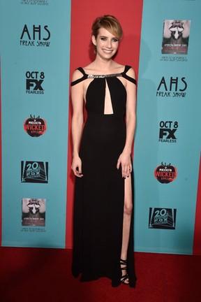 Emma Roberts  em première de série em Los Angeles, nos Estados Unidos (Foto: Frazer Harrison/ Getty Images/ AFP)