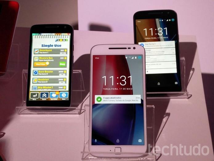 Moto G 4 normal, Plus e Play: os novos celulares da Motorola (Foto: Fabrício Vitorino/TechTudo)