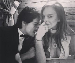 Egor Tarabasov e Lindsay Lohan  (Foto: Instagram / Reprodução)