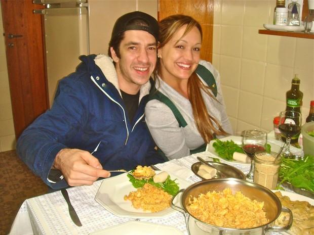 Claudia Bossle e Champignon (Foto: Reprodução / Facebook)