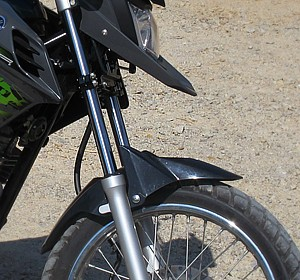 Yamaha XTZ Crosser 150 tem para-lama baixo (Foto: Rafael Miotto/G1)