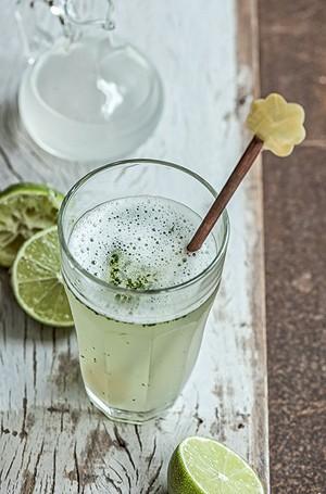 Erva-cidreira: Bata no liquidificador 1/2 litro de água (ou água de coco) e seis ou sete folhas picadas de erva-cidreira fresca • coe e volte ao copo lavado do liquidificador. Adicione o suco de 1 limão e gelo a gosto e bata novamente | Rende 2 copos (Foto: Iara Venanzi/Editora Globo)