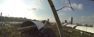 Veja o festival do alto da roda-gigante (G1)