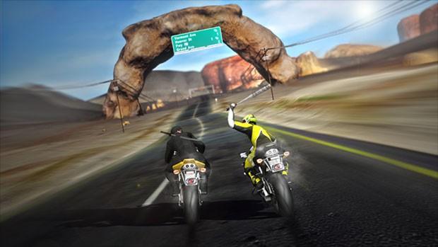 Cena de 'Road Redepmtion', o sucessor de 'Road Rash' (Foto: Divulgação/DarkSeas Games)