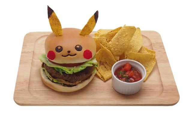Hamburguer de Pikachu, servido no Pikachu Cafe em Tóquio, custa cerca de R$ 23 (Foto: Divulgação/Pikachu Cafe)