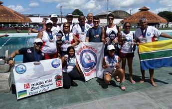 Delegação amapaense de natação conquista 45 medalhas no Pará