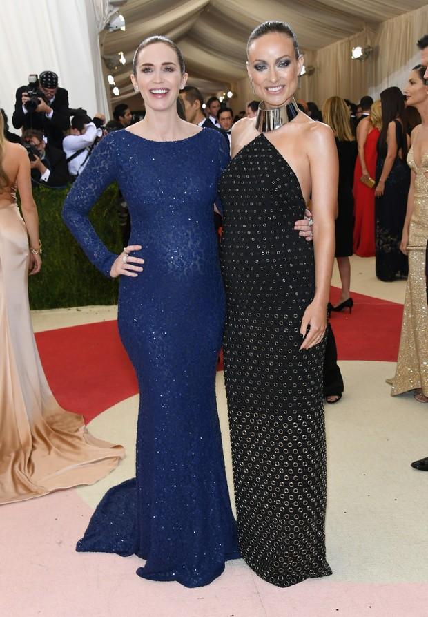Emily Blunt e Olivia Wilde (Foto: AFP)