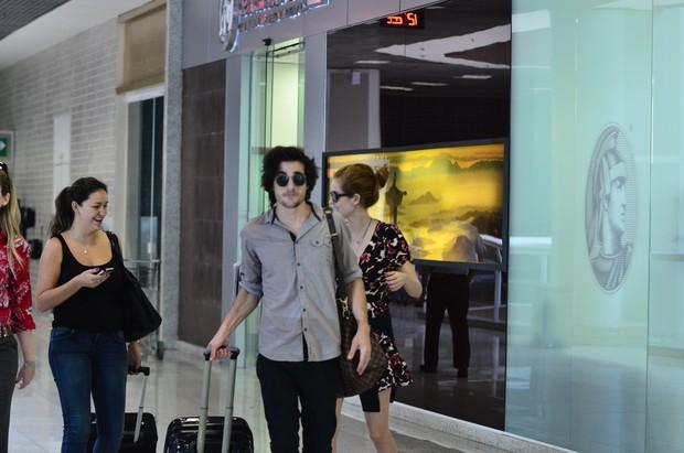 Sophia Abrahão e Fiuk no aeroporto Santos Dumont (Foto: William Oda / AgNews)