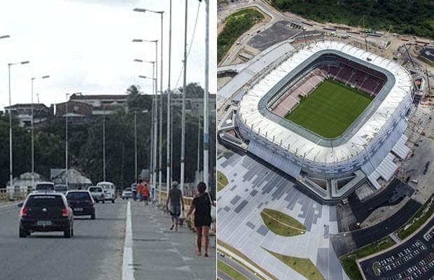 Cidade da Arena Pernambuco, São Lourenço da Mata não conta com número suficiente de hotéis e pousadas (Foto: Luna Markman/G1 e Rafael Bandeira/Secopa-PE)