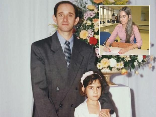 Pai de Fernanda era escrivão de polícia e sonhava em ser delegado (Foto: Fernanda Bertocco Melo/Arquivo pessoal/Governo do Paraná)
